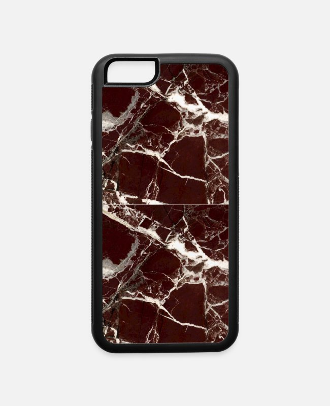 Sculpture iPhone Cases - red marble cases - iPhone 6 Case white/black