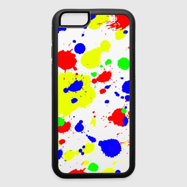 Simple Colorful paint Splatter Pattern. - iPhone 6/6s Rubber Case