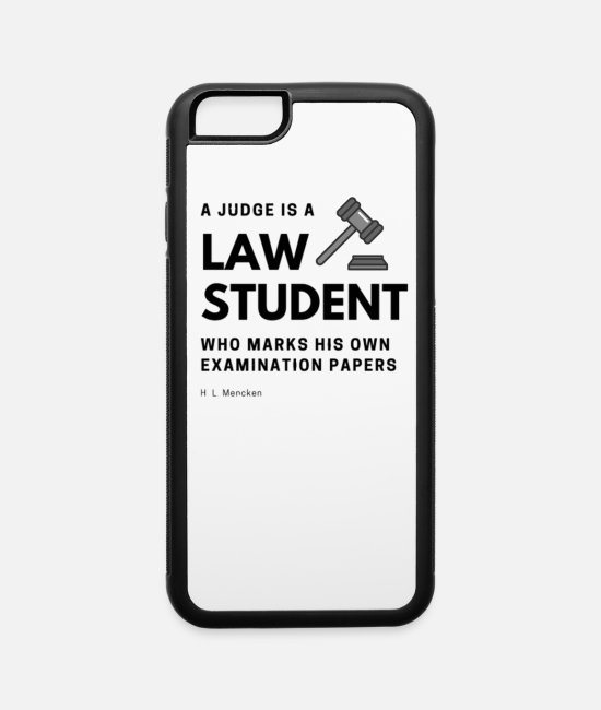 Quote iPhone Cases - Law Student - iPhone 6 Case white/black