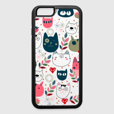 cute cats heads - iPhone 6/6s Rubber Case