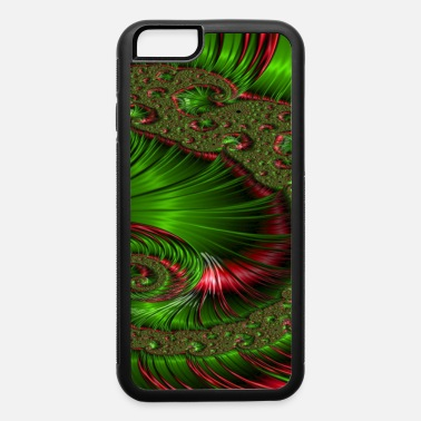 Twisted Christmas Twist Fractal Design - iPhone 6/6s Rubber Case