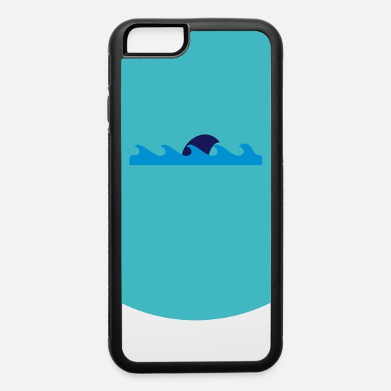 Waves iPhone Cases - shark in the waves (2c) - iPhone 6 Case white/black