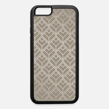 Color Modern Diamond Pattern in Taupe - iPhone 6 Case