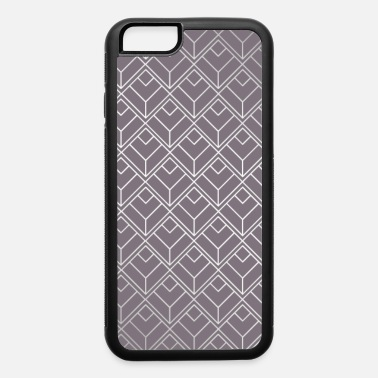Colorful Design Modern Geometric Diamond Pattern in Aubergine - iPhone 6 Case