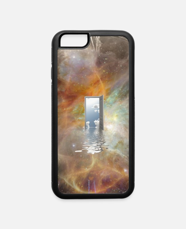 Space iPhone Cases - Door to Another World - iPhone 6 Case white/black