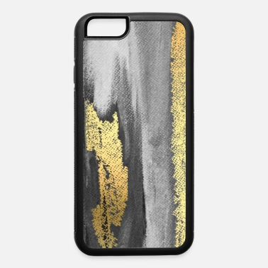 Paint Brush Grey Paint Brushstrokes Gold Foil Abstract Texture - iPhone 6 Case