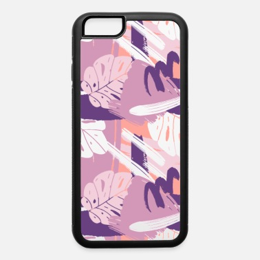 Botanical Abstract Purple Monstera Leaves Pattern - iPhone 6 Case