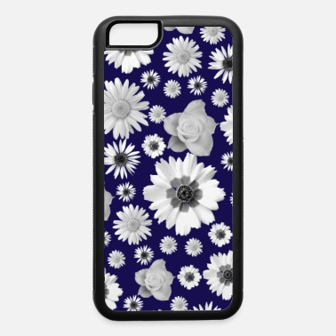 bloom, flowers, flowery, daisies, roses, blue - iPhone 6 Case