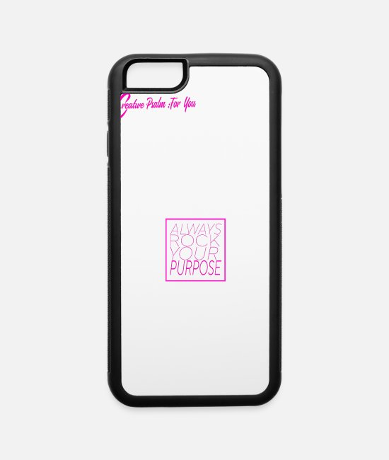 Psalms iPhone Cases - Rock Your Purpose Handbag - iPhone 6 Case white/black