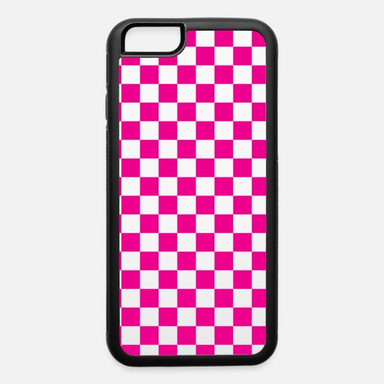 Checkerboard iPhone Cases - Pink Checkerboard - iPhone 6 Case white/black