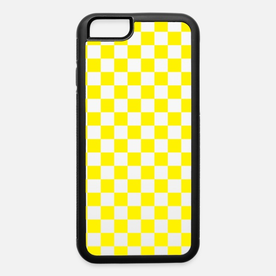 Yellow iPhone Cases - Yellow Checkerboard - iPhone 6 Case white/black