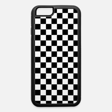 Square Black Checkerboard - iPhone 6 Case