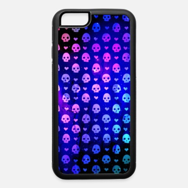 Pattern 8 bit skulls and hearts pattern - iPhone 6 Case