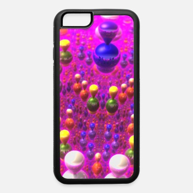 Atom Abstract 3D Computer Art - Colored Reflective Orbs - iPhone 6 Case