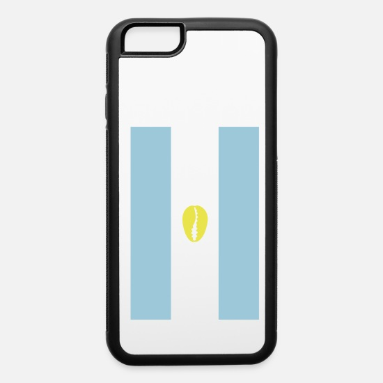 Flag iPhone Cases - Argentinian flag for proud santero - iPhone 6 Case white/black