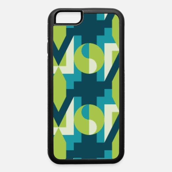Ikat Geometric Abstract Modern Retro Pattern Iphone 6 6s Rubber Case White Black