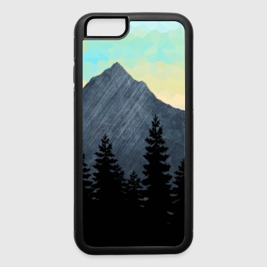 Forest Silhouette and Mountain Range Design. - iPhone 6/6s Rubber Case
