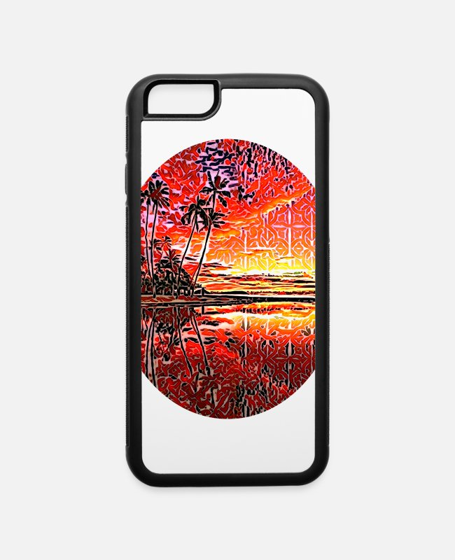 Usa iPhone Cases - Island in the Sun, Hawaii, USA - iPhone 6 Case white/black