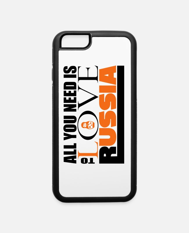Petersburg iPhone Cases - All you need is love Russia schwarz - iPhone 6 Case white/black