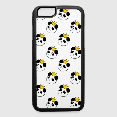 Panda King checkered tile for phone cases - iPhone 6/6s Rubber Case