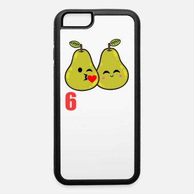 Anniversary 6th Wedding Anniversary Funny Pear Couple Gift - iPhone 6/6s Rubber Case