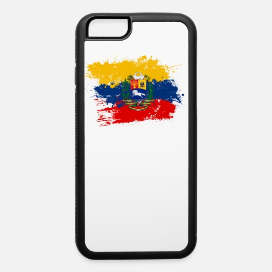 Venezuela iPhone Cases - Flag of Venezuela and coat of arms - iPhone 6 Case white/black