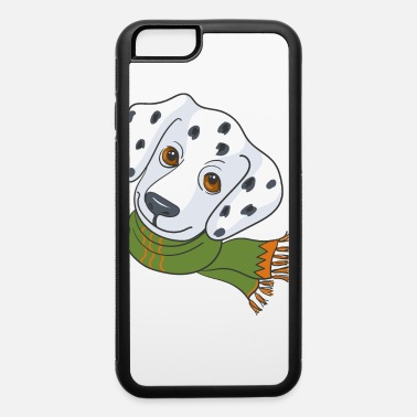 Agility Dalmatian dog with scarf - iPhone 6/6s Rubber Case