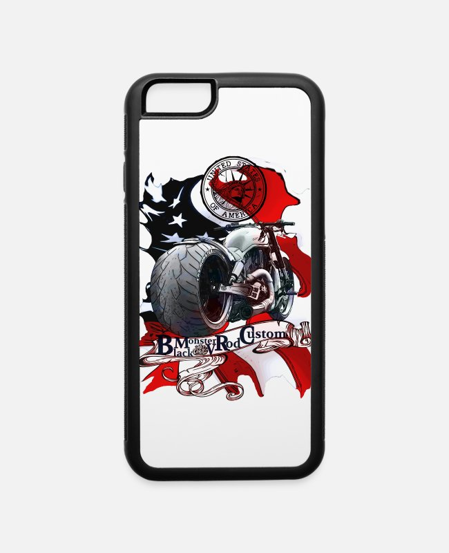 Father's Day iPhone Cases - Black Monster no limit V Rod Custom United States - iPhone 6 Case white/black