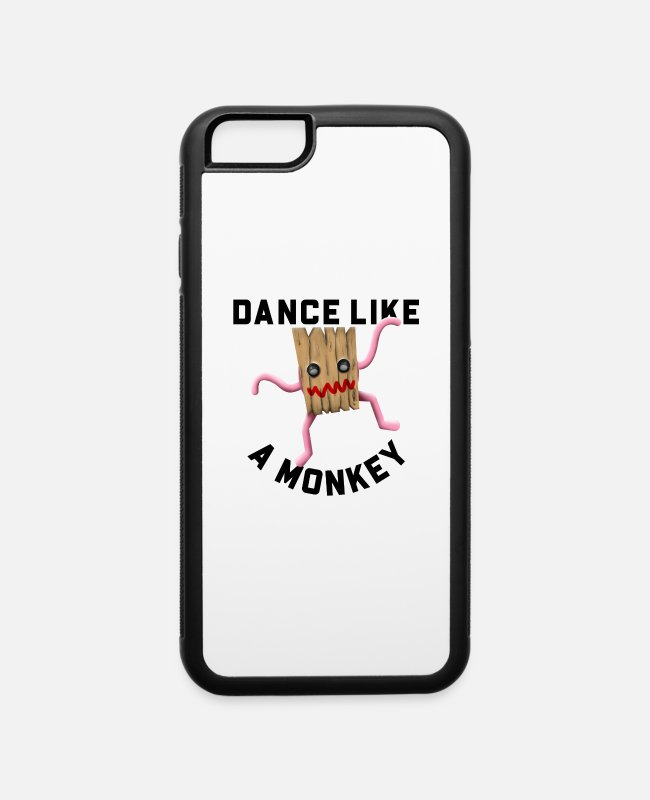 Monkey iPhone Cases - Dance Like A Monkey Collection - iPhone 6 Case white/black