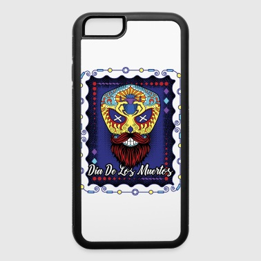 Fiesta Day Of The Dead Sugar Skull Beard Purple Blue - iPhone 6/6s Rubber Case
