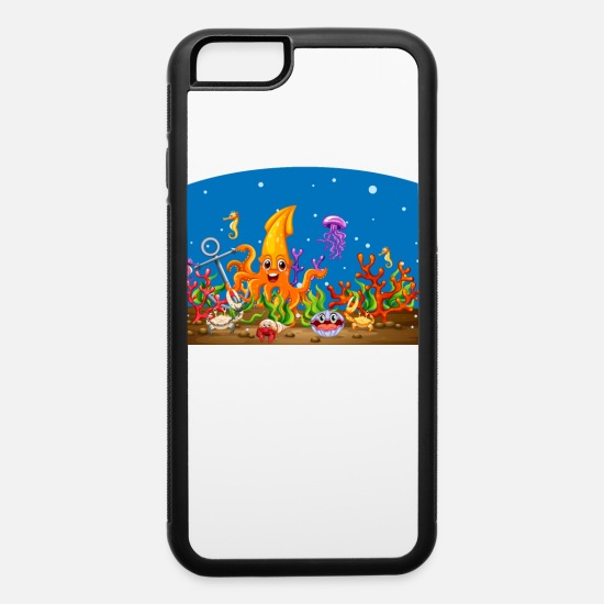 Under Water iPhone Cases - Party under water with your favourit sea animals - iPhone 6 Case white/black
