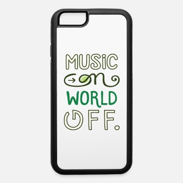 Musical Symbols Music on world off design for music fans - iPhone 6 Case