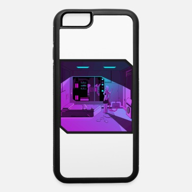 Outrun Style Anime girl retrowave synthwave outrun aesthetics - iPhone 6 Case