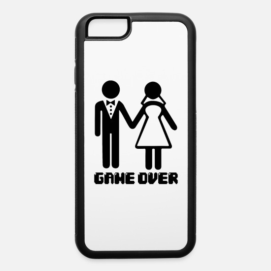 c9ea9f9a14 Bride iPhone Cases - Game Over After Marriage Funny Wedding Gaming - iPhone  6 Case white