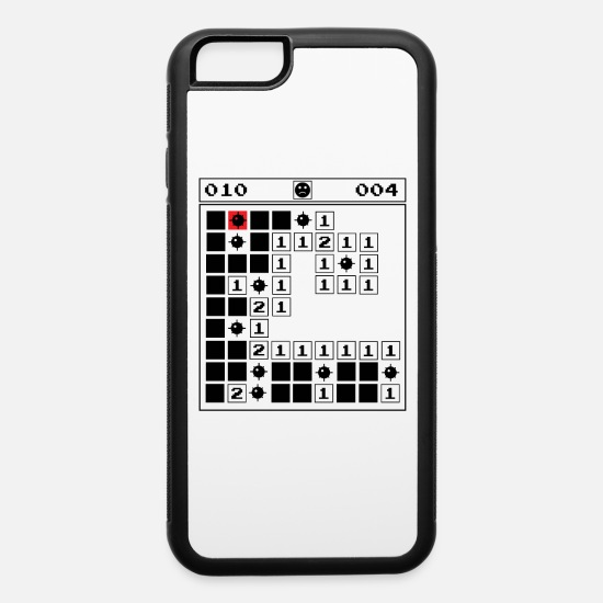 Minesweeper Vintage Gaming 90s Old School iPhone 6/6s Rubber Case -  white/black