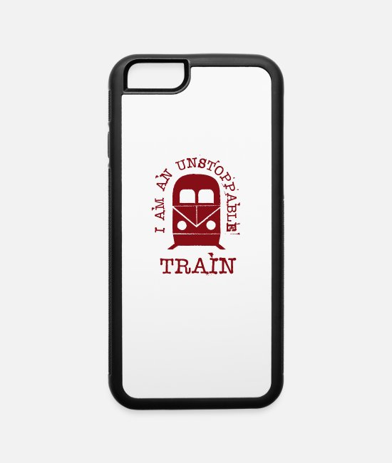 Training iPhone Cases - Trains Railroad Railway Locomotive Train Cool Gift - iPhone 6 Case white/black