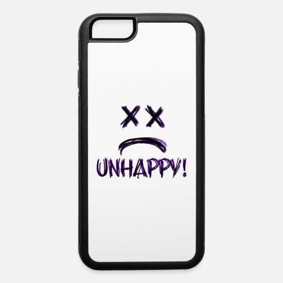 Unhappy iPhone Cases - Unhappy! - iPhone 6 Case white/black