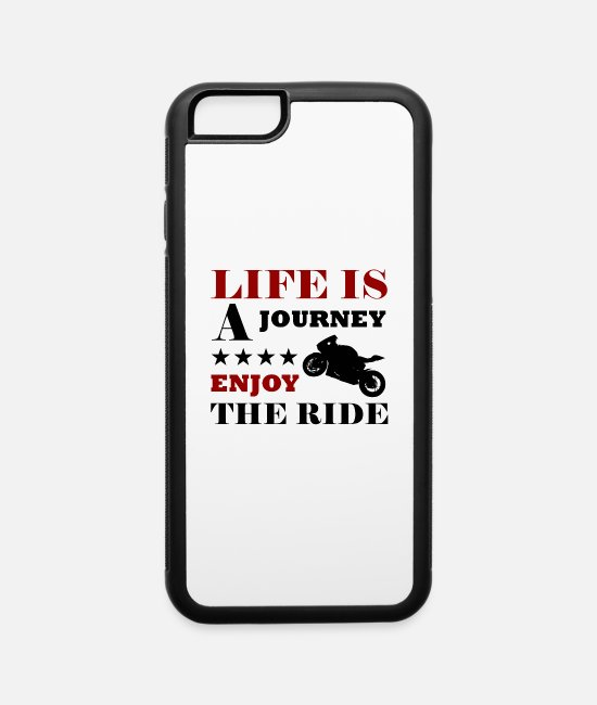 Ghost Rider iPhone Cases - life is a journey enjoy the ride - iPhone 6 Case white/black