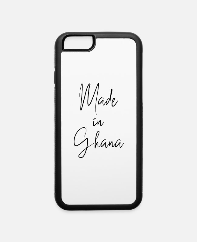 Morocco iPhone Cases - made in ghana - iPhone 6 Case white/black