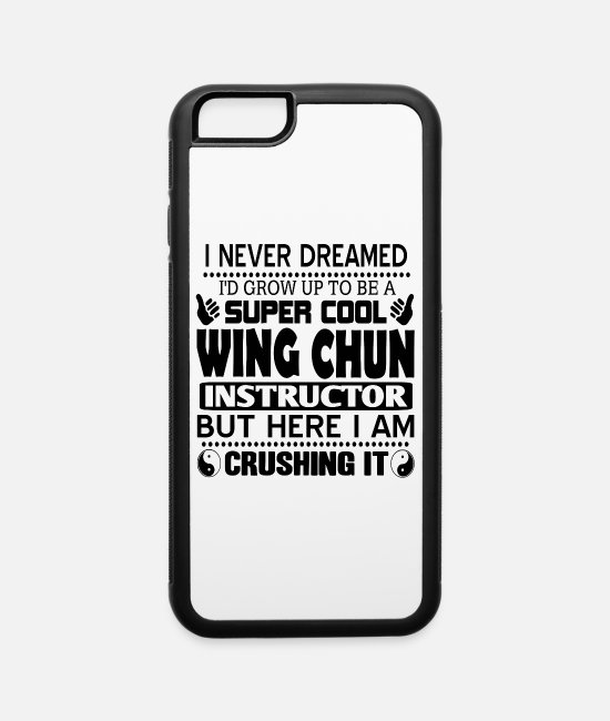 Martial Arts iPhone Cases - Wing Chun - iPhone 6 Case white/black