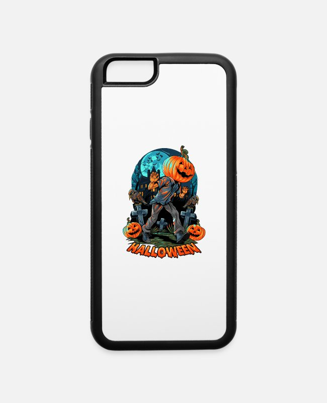 Fear iPhone Cases - Pumpkin Monster Art for a Happy Halloween Party - iPhone 6 Case white/black