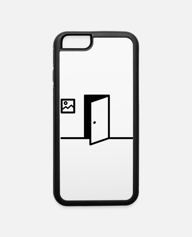 Ass iPhone Cases - What's behind the door? - iPhone 6 Case white/black