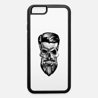 Haircut Skull with a beard in tattoo barbershop style - iPhone 6 Case