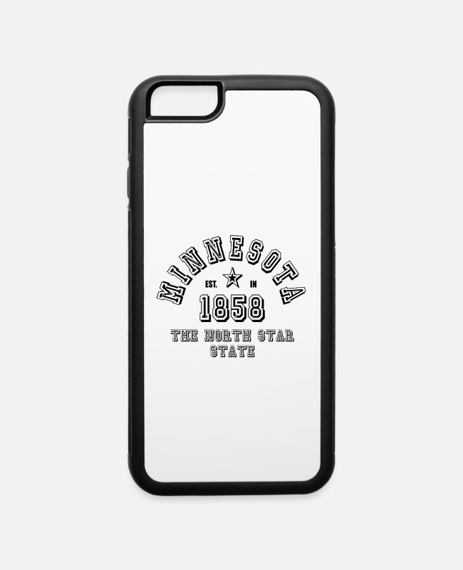 Usa iPhone Cases - Minnesota USA - iPhone 6 Case white/black