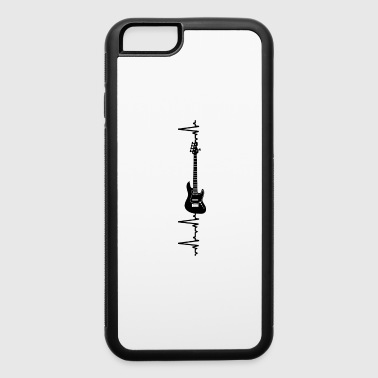 Bass Player Heartbeat One Gift Birthday Christmas - iPhone 6/6s Rubber Case