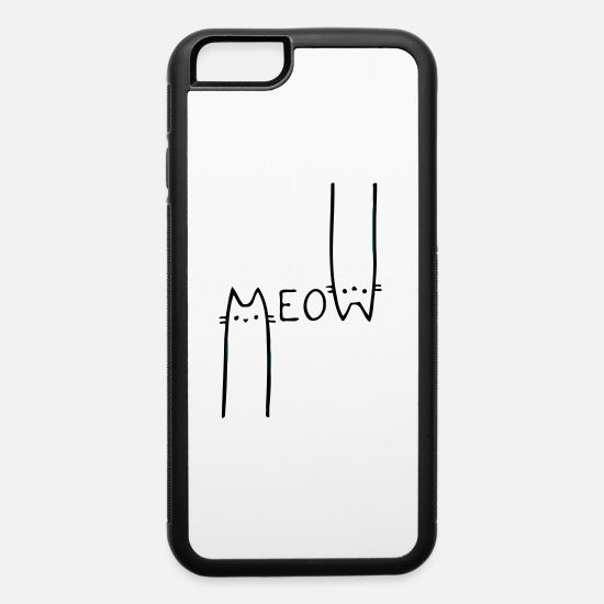 Meow iPhone Cases - Citizen Meow - iPhone 6 Case white/black