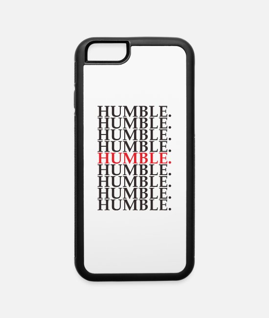 Rap iPhone Cases - HUMBL TSHIRT - iPhone 6 Case white/black