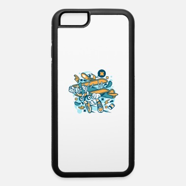 Aeroplane Cartoon comic plane with hands and feet - iPhone 6 Case