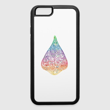 bean leaf colorful ornaments gift idea psychedelic - iPhone 6/6s Rubber Case