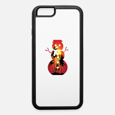 Snowman at beach on sunset - iPhone 6 Case